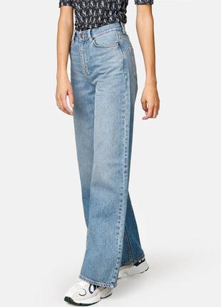 Стильные джинсы mom высокие с высокой посадкой широкие бананы