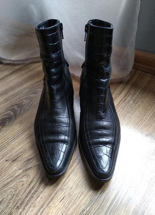 Розпродажа! ботинки из качественной натуральной кожи lavorazione artigianale