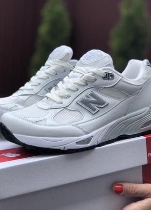 Молодежные кроссовки new balance, англия, белые