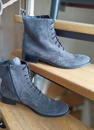 Ботинки итальянские замша davos gomma