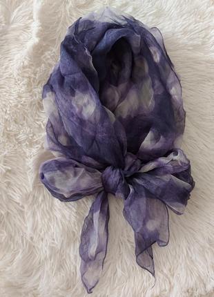Шелковый платок-шарф