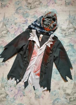 Карнавальный костюм зомби ,костюм на хеллоуин бренд smiffy's на 10-12 л