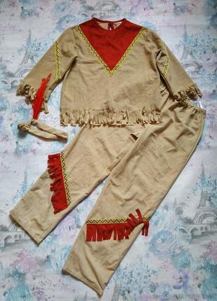Карнавальный костюм индейца,индеец бренд party world на 9-10 л