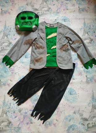 Карнавальный костюм франкенштейна,костюм на хеллоуин, френки, франкенштейн на 3-4 года