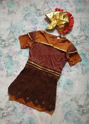 Карнавальный костюм римлянин,гладиатор,римский воин,грек,цезарь на 9-10 л