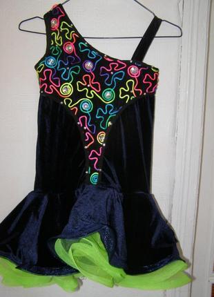 Платье-боди для танцев пышная юбка рост 156-162