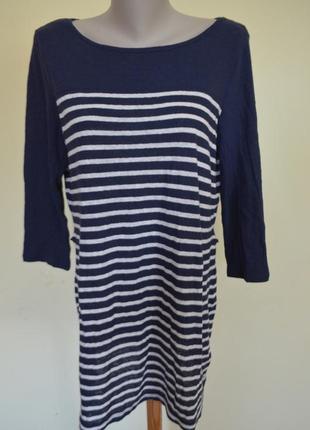 Шикарное трикотажное платье-туника лен котон