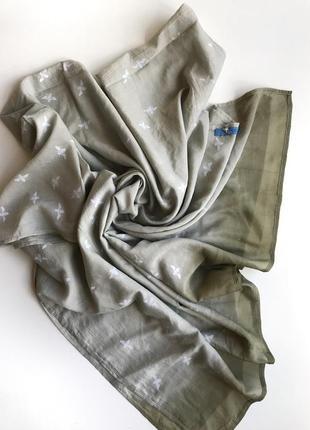 Хлопковый шарф gioia de seda в стиле gucci