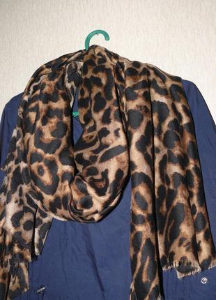 Леопардовый палантин,большой