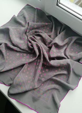 Фірмовий італійський шовковий платок ostinelli!!! оригінал!!!