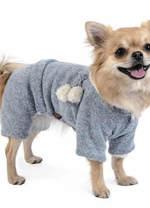 """Комбинезон для собаки """"солли"""", меланж. размер xs 2."""