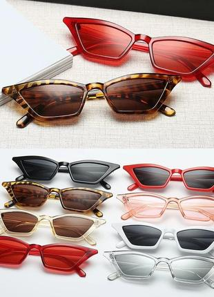 Базовые солнцезащитные очки трендовые кошачьи очки
