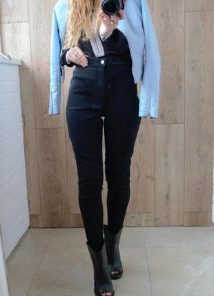 Идеальные черные джинсы с высокой посадкой denim by tu