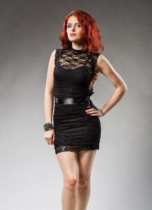 Гипюровое платье с шелковым поясом, kiki riki