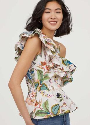 Классная хлопковая  новая блуза фирмы h&m