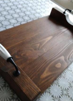 Деревянный поднос3 фото