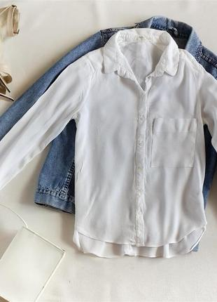 Базовая белая рубашка bershka