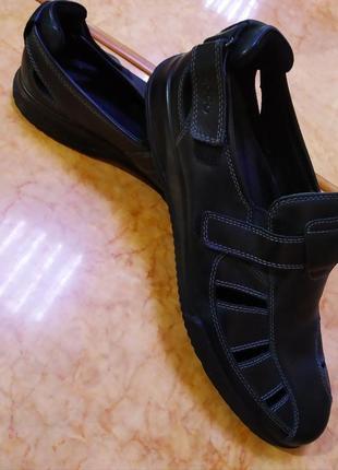 Туфли сандалии сандалі мокасины кожа бренду  ecco