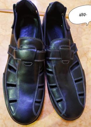 Туфли сандалии сандалі мокасины кожа бренду  ecco 31см