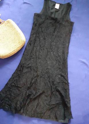Платье кружевное черного цвета