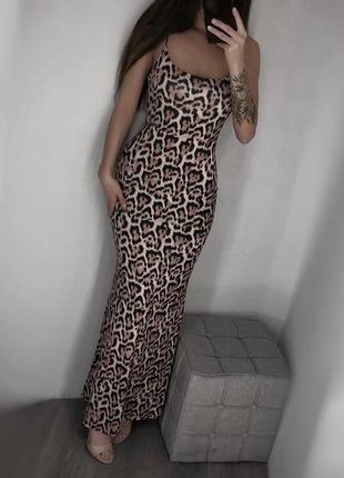 Сарафан платье леопард тренд 2020