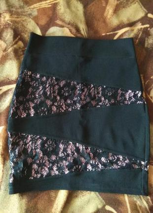 Черная облегающая юбка jane norman