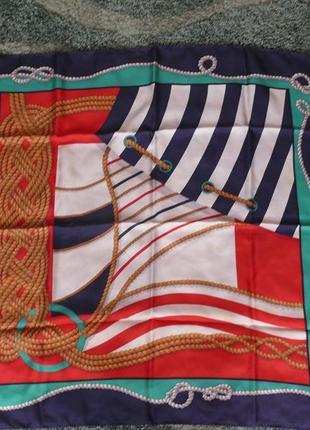 Шелковый платок codello  ,шов роуль, есть дефекты