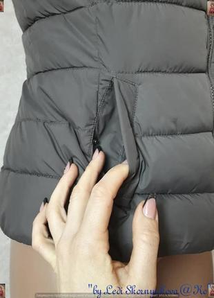 Фирменная chicoree стильная жилетка с утеплителем с мехом под енота, размер с-м6 фото