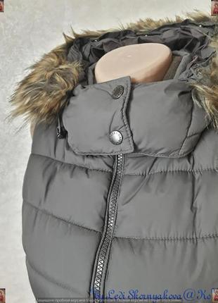 Фирменная chicoree стильная жилетка с утеплителем с мехом под енота, размер с-м5 фото