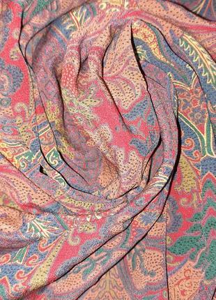 Винтажный шелковый платок 100% шелк /77*81 см
