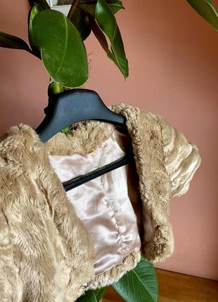 Плюшевое болеро с шелковой подкладкой