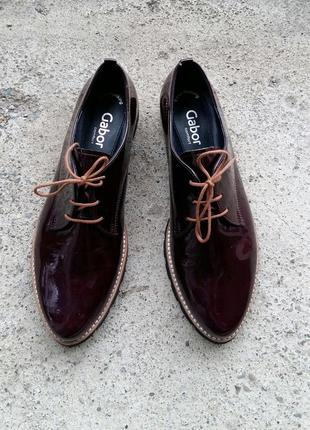 P.40 gabor (оригинал) лаковые туфли.