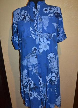 Платье в цветы, размер 56