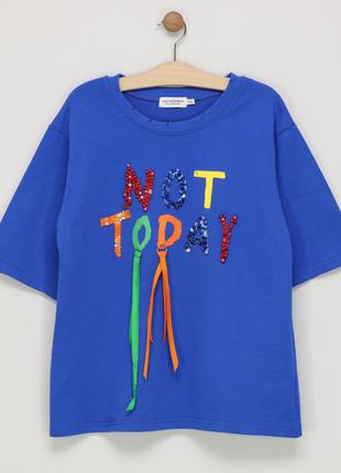 Новый свитшот lili sidonio x molly bracken 100% хлопок короткий рукав плотная футболка