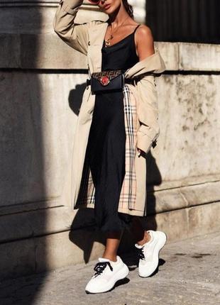 Черная длинная юбка гофре , плиссе , плиссерованная юбка р.s/m