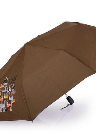 Зонт airton 3911-4184 женский полный автомат складной хаки