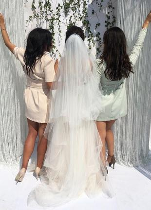Двухъярусная свадебная фата
