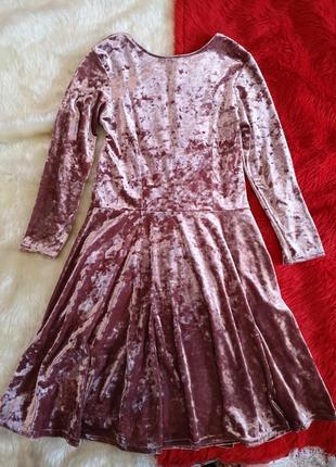 Велюровое бархатное мраморной платье topshop