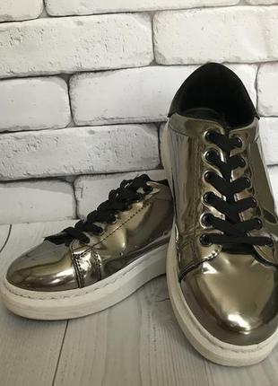 Кросівки срібні {зеркальні}