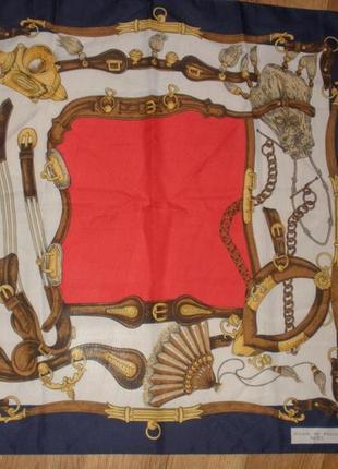 Винтажный платок nicole de beauvoir paris винтаж  полиестер /75*76  см
