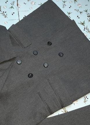 🌿1+1=3 шикарный серый фирменный двубортный плотный пиджак оверсайз mango, размер 44 - 466 фото