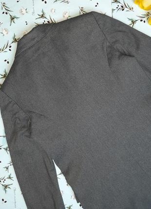 🌿1+1=3 шикарный серый фирменный двубортный плотный пиджак оверсайз mango, размер 44 - 467 фото