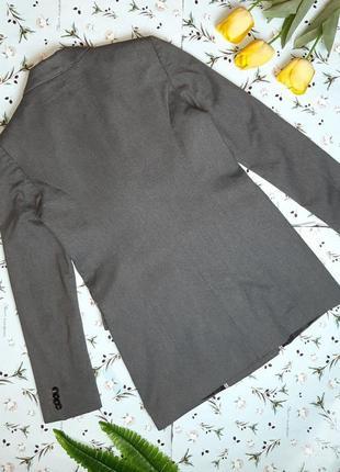 🌿1+1=3 шикарный серый фирменный двубортный плотный пиджак оверсайз mango, размер 44 - 468 фото