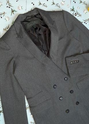 🌿1+1=3 шикарный серый фирменный двубортный плотный пиджак оверсайз mango, размер 44 - 469 фото