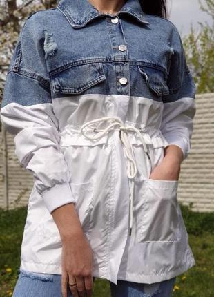 Туника -рубашка ветровка