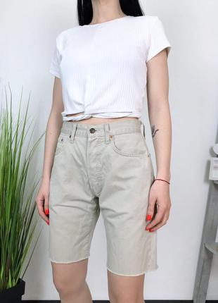 Джинсовые шорты бермуды высокая посадка levis винтаж винтажные