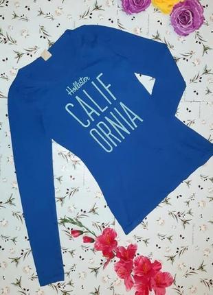🌿1+1=3 стильный легкий синий свитер водолазка лонгслив hollister, размер 42 - 44
