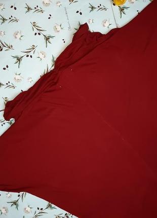 🌿1+1=3 стильный красный тонкий свитер с напуском на груди zara, размер 46 - 483 фото