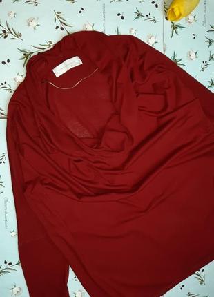 🌿1+1=3 стильный красный тонкий свитер с напуском на груди zara, размер 46 - 484 фото