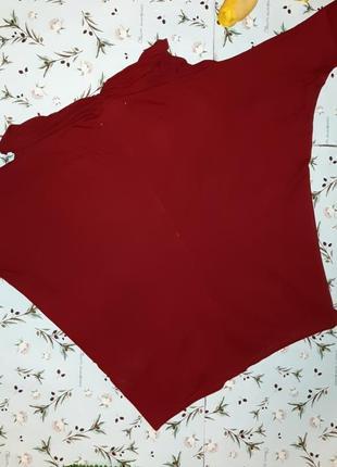 🌿1+1=3 стильный красный тонкий свитер с напуском на груди zara, размер 46 - 487 фото